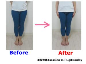 二子玉川のピラティス&小顔・美脚整体 | Hug&Smiley ビフォーアフター10