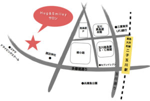 二子玉川のピラティス&小顔・美脚整体 | Hug&Smiley 地図
