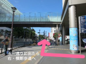 二子玉川のピラティス&小顔・美脚整体 | Hug&Smiley 道順2